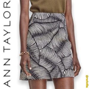 Ann Taylor Palm Leaf Skirt Mini Career